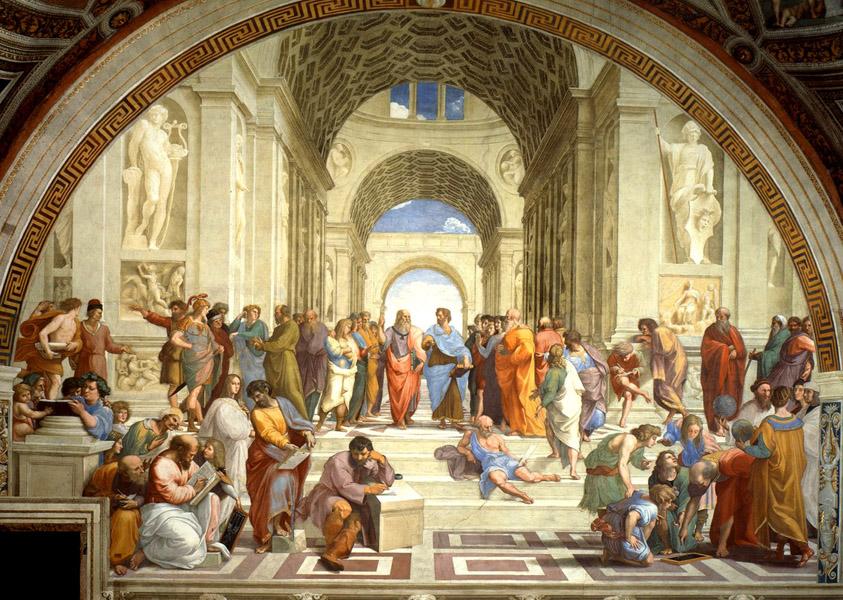 La Escuela de Atenas, de Rafael Sanzio