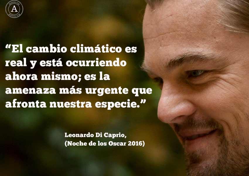 Leonardo di Caprio Cambio Climático