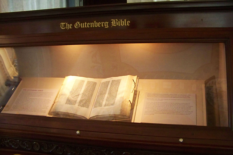 WEB- Library of Congress Bible Collection Washington-GUTENBERG-BIBLE-MUSEUM-Kathy Dempsey-