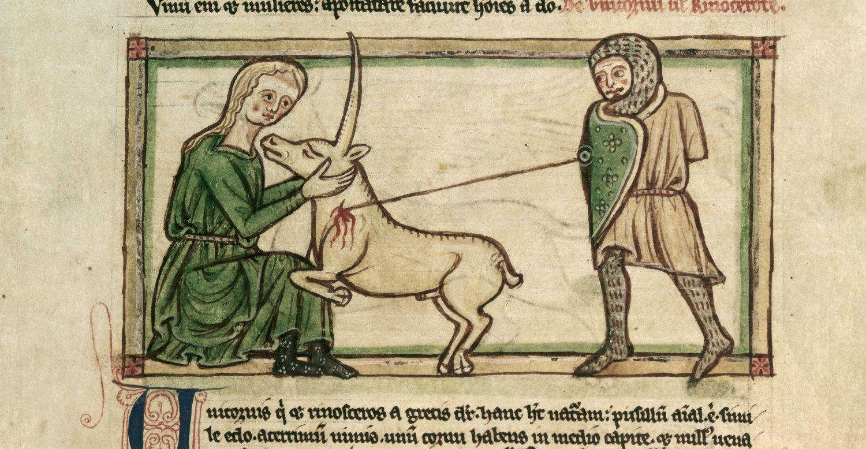 El mismo Isidoro de Sevilla escribió sobre el unicornio, en el siglo VII, describiéndolo como una bestia de cuatro patas que tiene un solo cuerno en la frente.