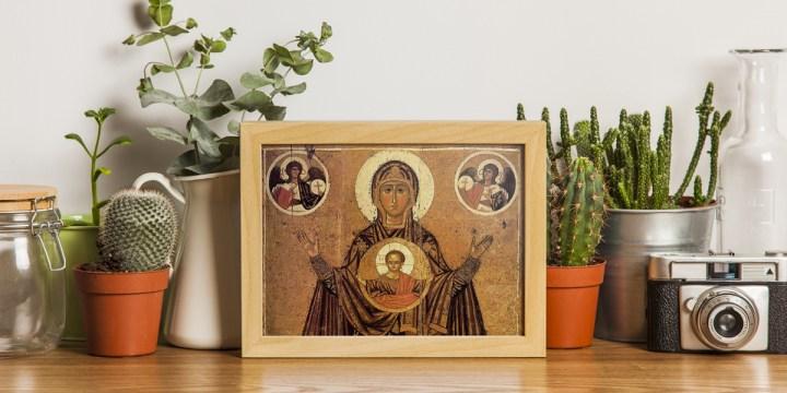 OBRAZEK MARYI W MIESZKANIU
