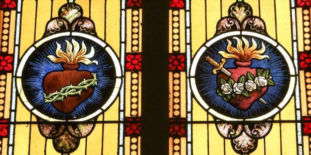 Infografía: Símbolos del Sagrado Corazón de Jesús y del Inmaculado ...