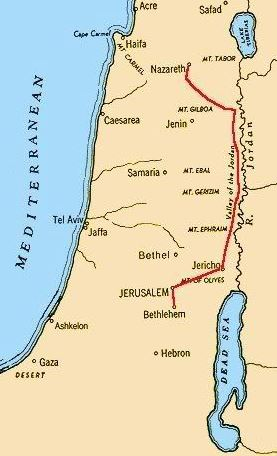 ROAD FROM NAZARETH TO JERUSALEM