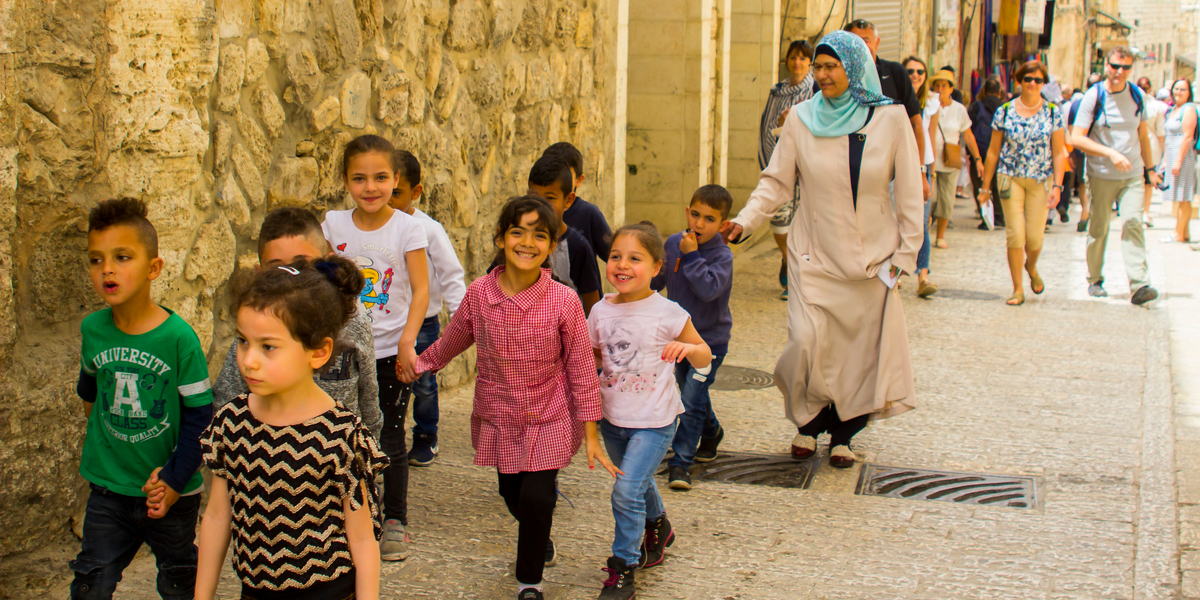 CHILDREN, JERUSALEM, HAPPY