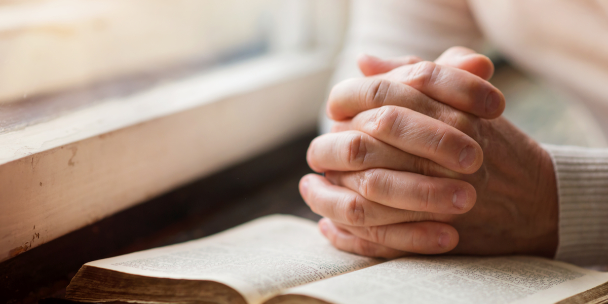 Old person, pray, Bible