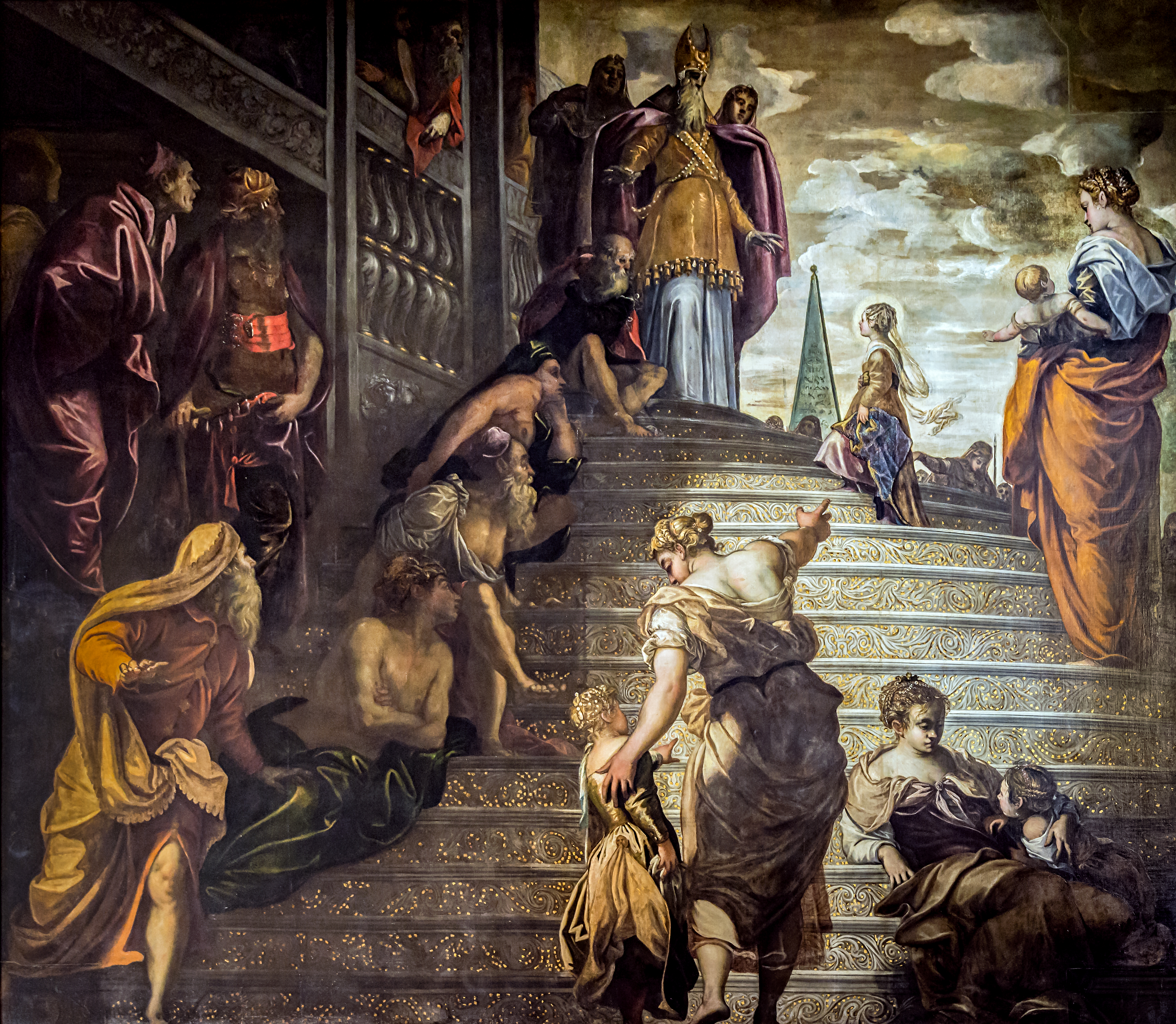 Presentation_at_the_temple_of_the_Virgin_(1552-1553)_by_Tintoretto